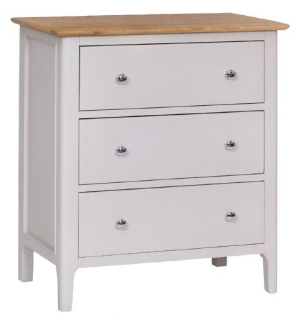 Newhaven Grey Painted 3 Drawer Chest